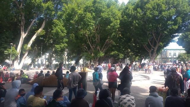 Marcha Antorcha contra impugnaciones por elección en Ocoyucan y Huitzilan