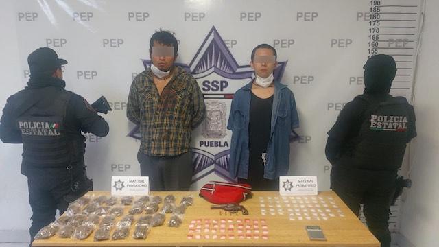 Captura Policía Estatal a dos presuntos vendedores de droga en Tehuacán