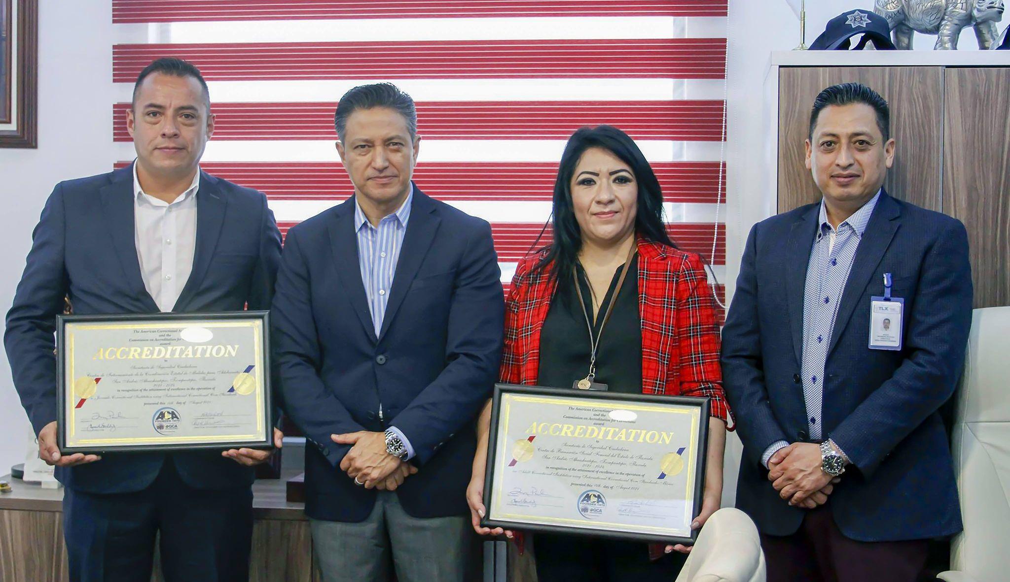 Tlaxcala logra la acreditación y re-acreditación del Centro de Reinserción Femenil y de Adolescentes ante la asociación de correccionales de América