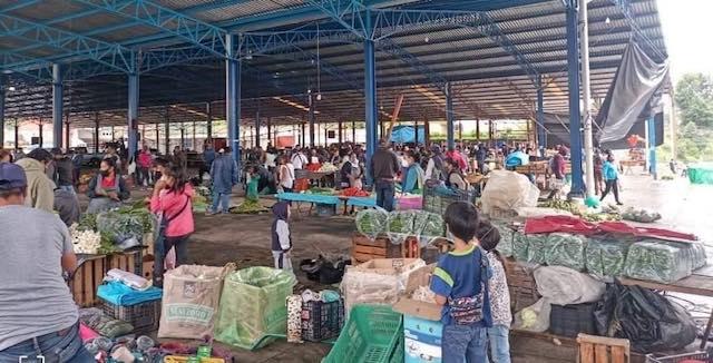 Desde Huauchinango: Instalan tianguis sabatino pese a crisis sanitaria y el huracán Grace