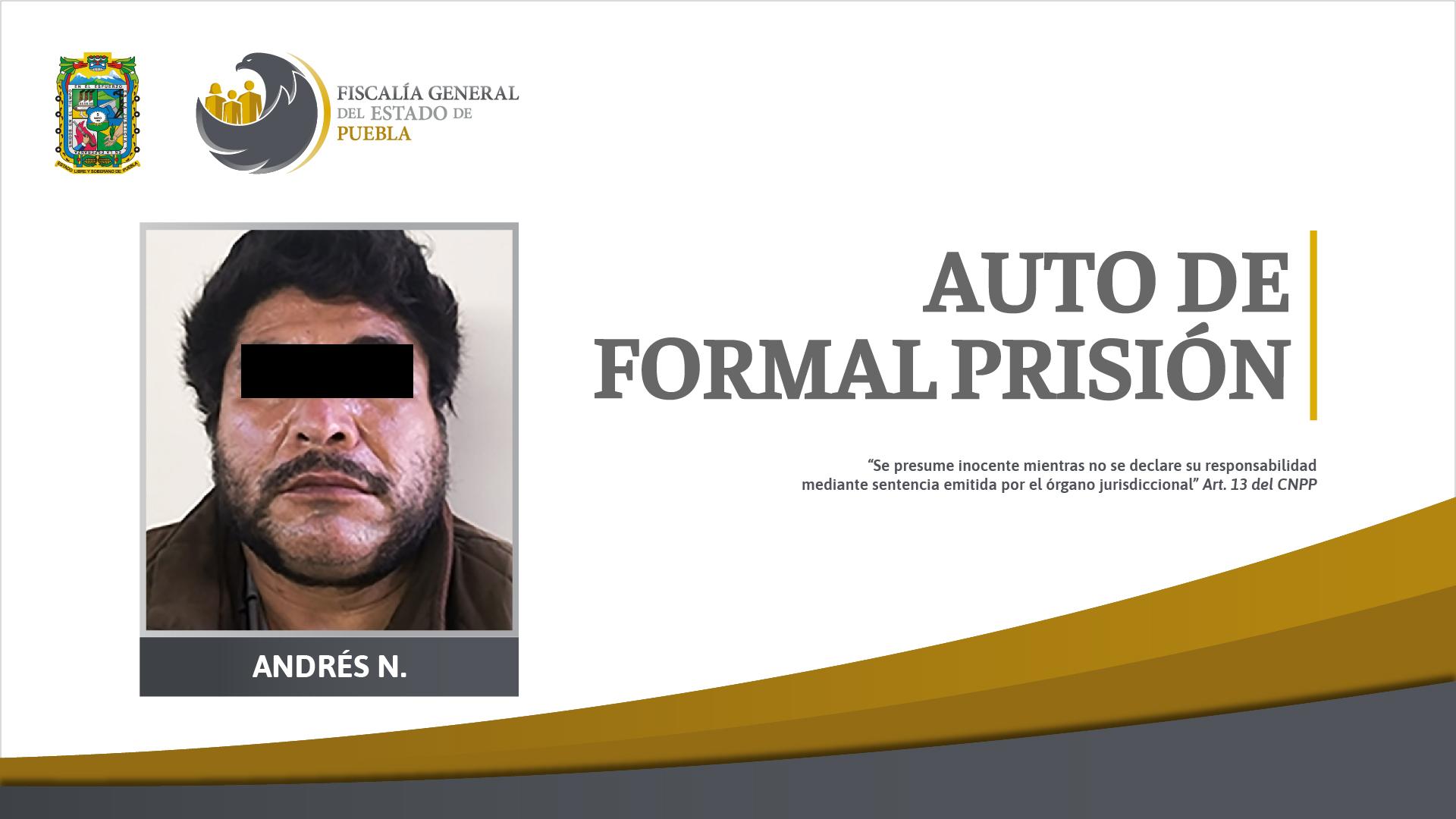 Auto de formal prisión por homicidio calificado en Tepeyahualco