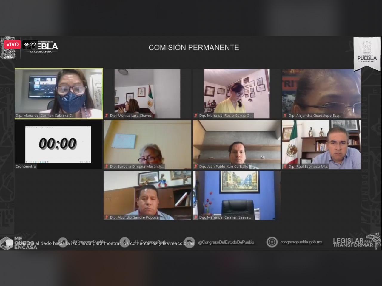 Turnan a comisiones del Congreso Ley de Personas Desaparecidas para el Estado de Puebla enviada por el ejecutivo