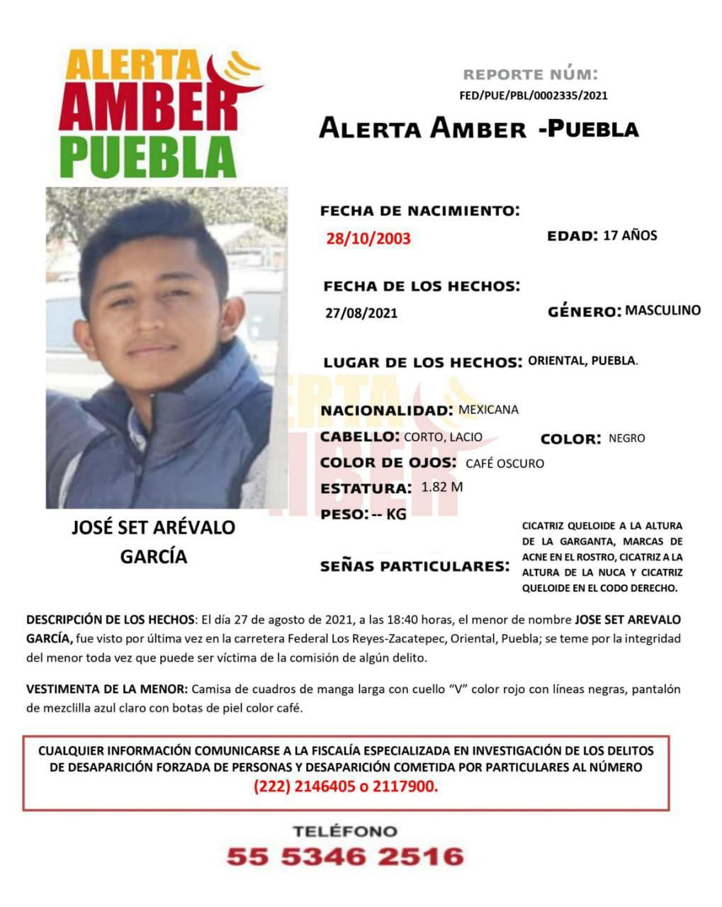 FGE activa Alerta Amber para localizar a adolescente de 17 años