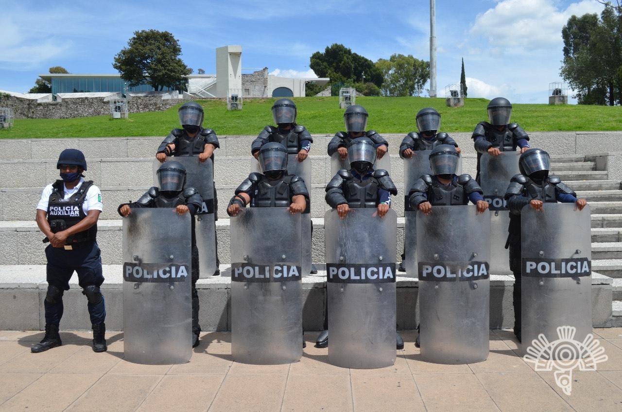 Brinda Policía Auxiliar servicios de seguridad y vigilancia en el estado