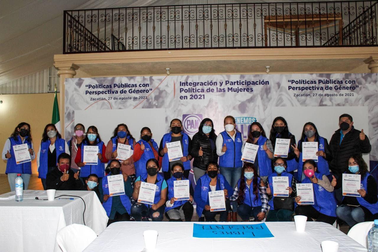 Es tiempo de las mujeres y desde el PAN Puebla seguiremos fortaleciendo su liderazgo y empoderamiento: Genoveva Huerta