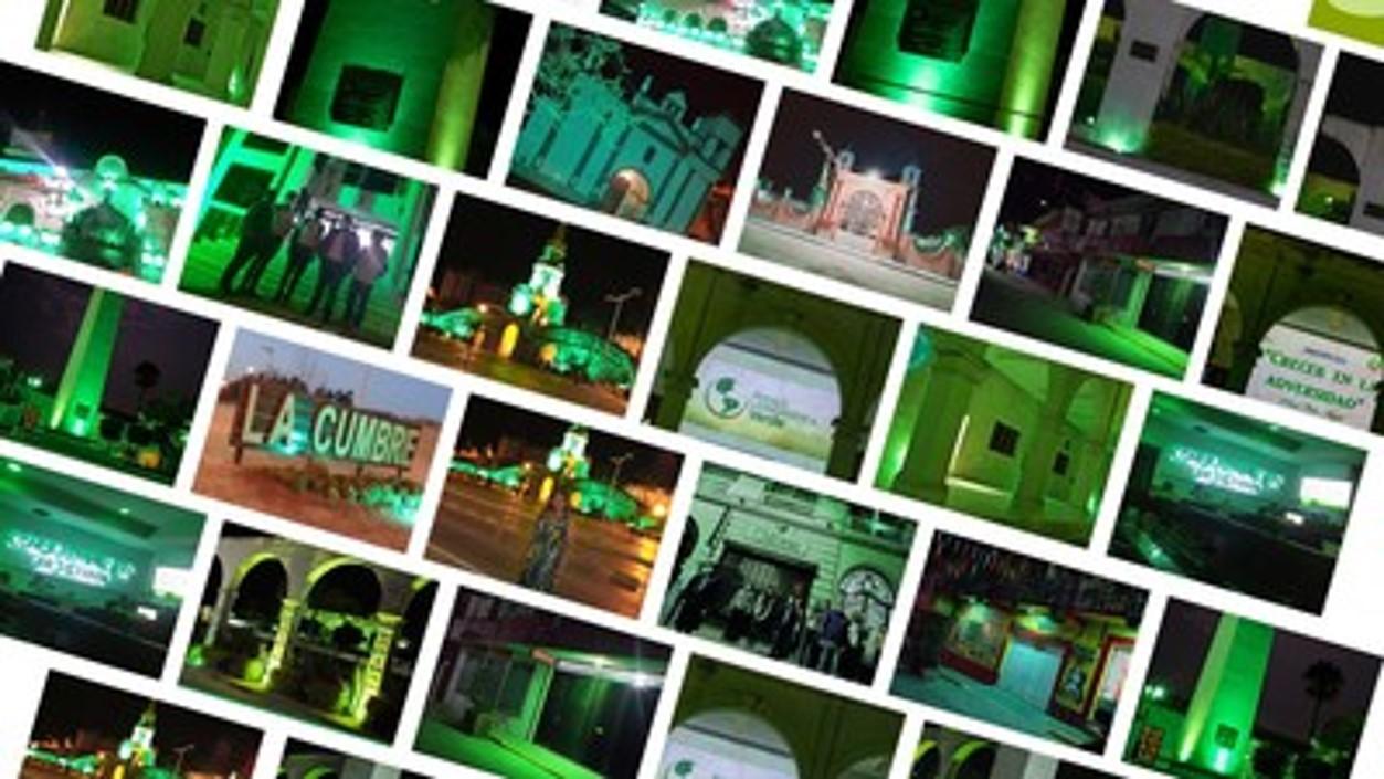 Latinoamérica se iluminó de verde para despertar conciencia ambiental y promover políticas a favor del medio ambiente