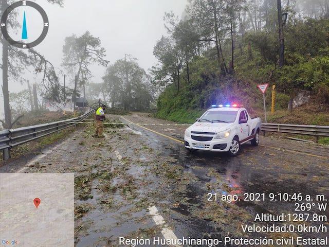 """Reporta Protección Civil del Estado afectaciones menores tras llegada del huracán """"Grace"""""""