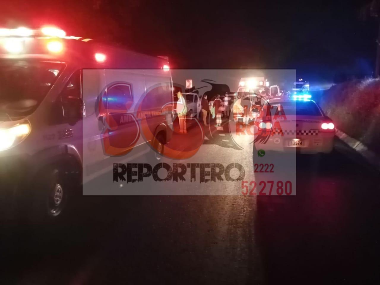 9 lesionados en percance sobre el Puente de Totolapa en Huauchinango.
