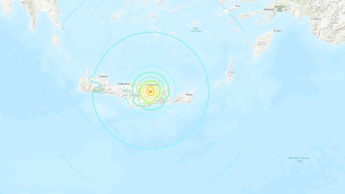 Terremoto en la isla griega de Creta