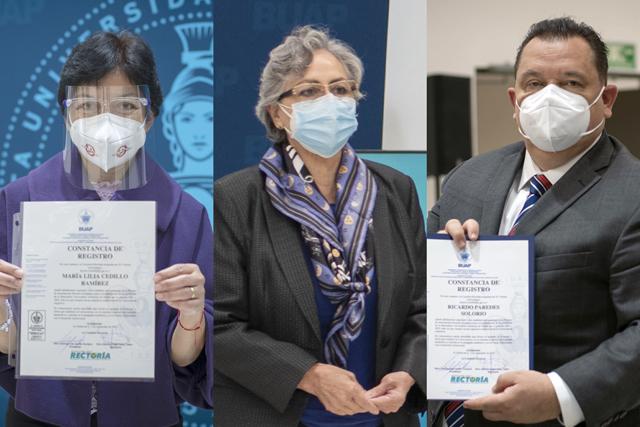 Contenderán por la Rectoría de la BUAP: Lilia Cedillo, Guadalupe Grajales y Ricardo Paredes
