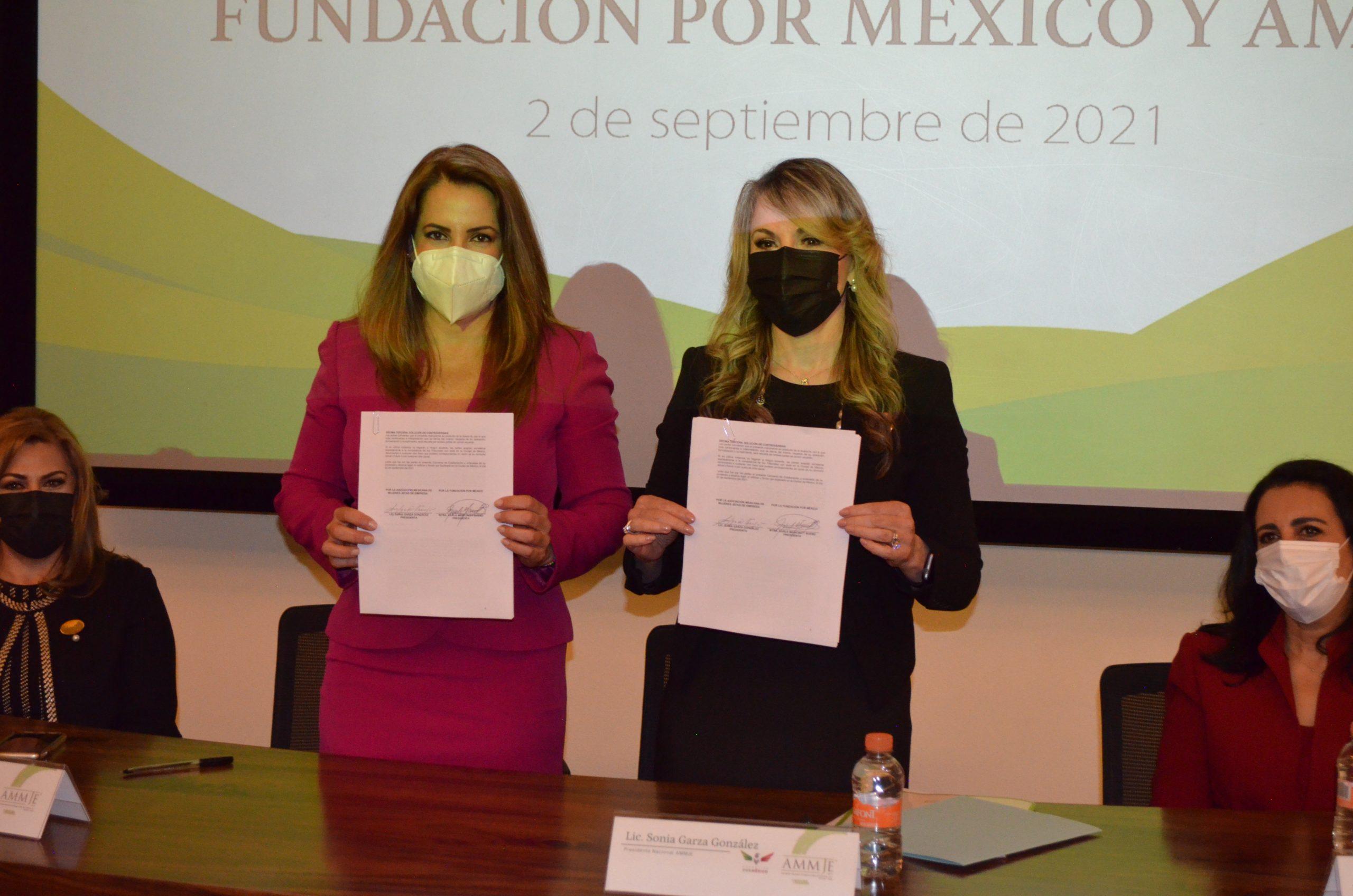 Fundación Por México y la Asociación Mexicana de Mujeres Jefas de Empresa  firman convenio de colaboración para mejorar las oportunidades laborales de las mujeres mexicanas