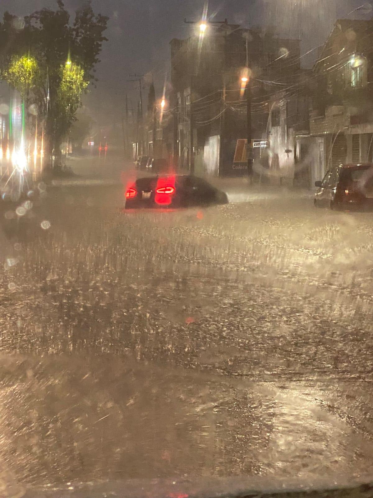 Video desde Puebla: Se inundaron varias zonas de Amozoc por la tormenta de ayer