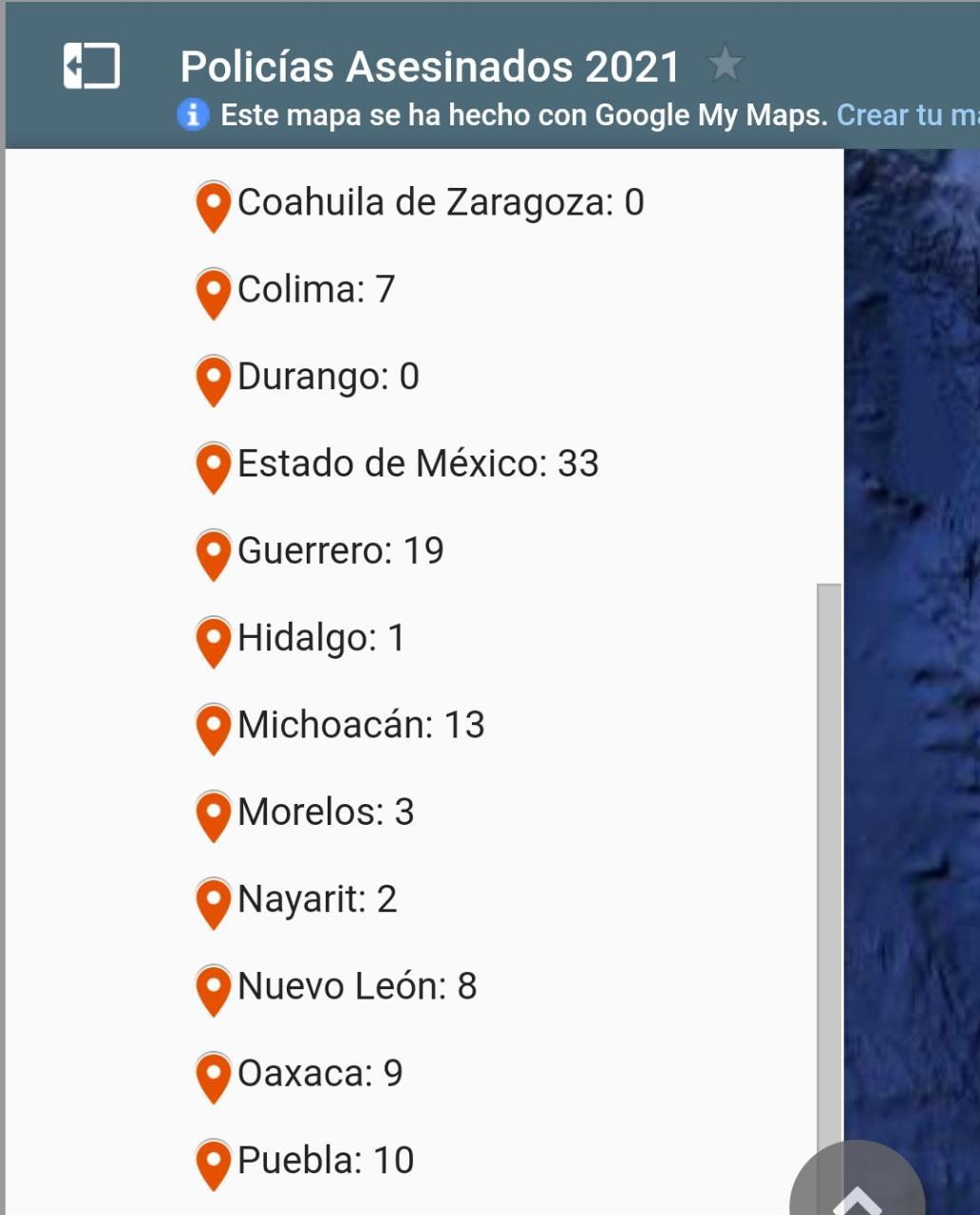 Puebla lleva 10 policías asesinados hasta el pasado 10 de septiembre