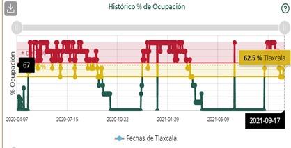 Puebla, Tlaxcala, Tabasco y Aguascalientes, entidades con mayor ocupación hospitalaria