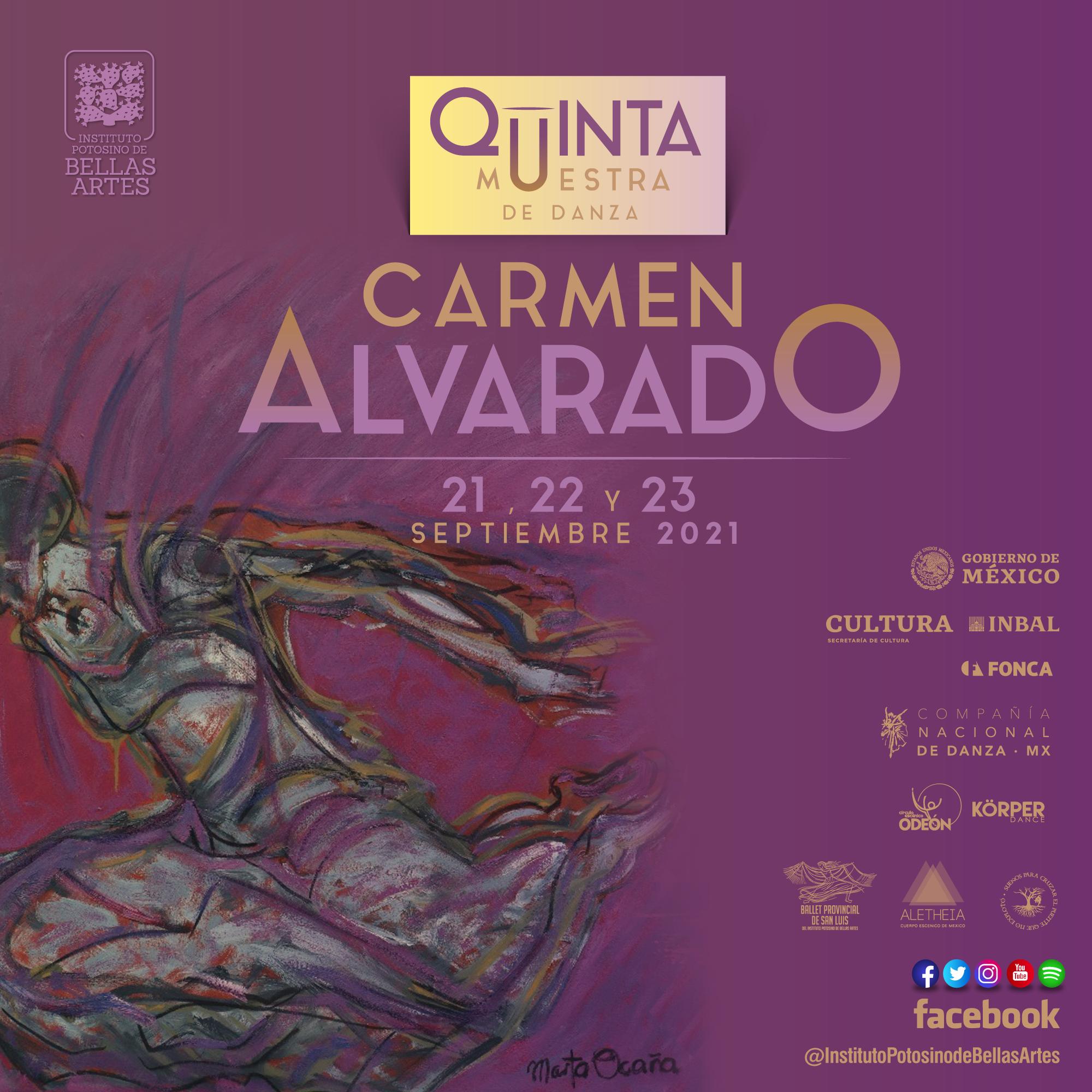 """5ª Edición de la Muestra de Danza """"Carmen Alvarado"""""""