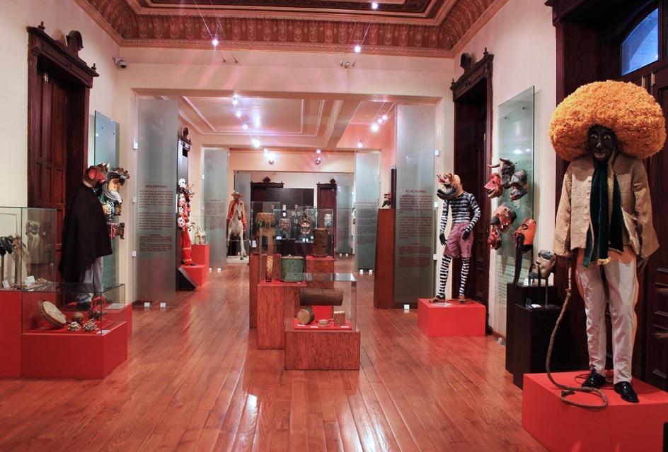 Máscaras de diversas procedencias en el Museo Nacional de la Máscara