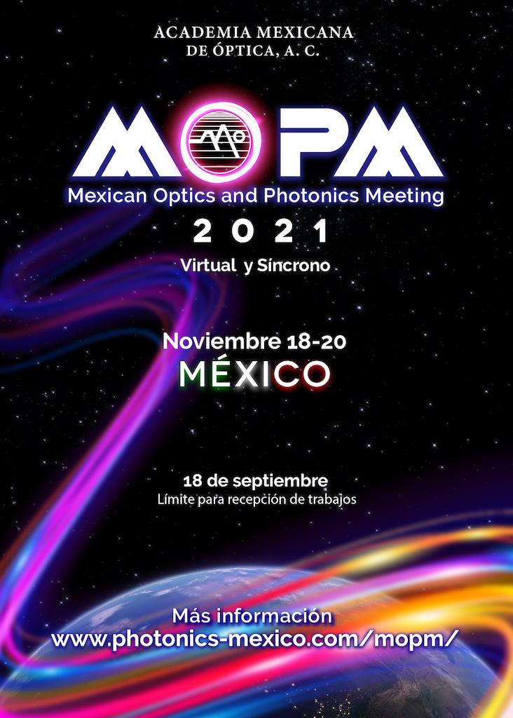 Abren convocatoria para la Reunión Mexicana de la Óptica y Fotónica 2021