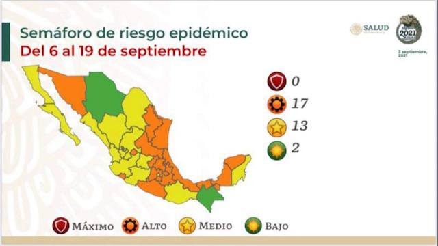 Puebla regresa a color naranja en el Semáforo Covid