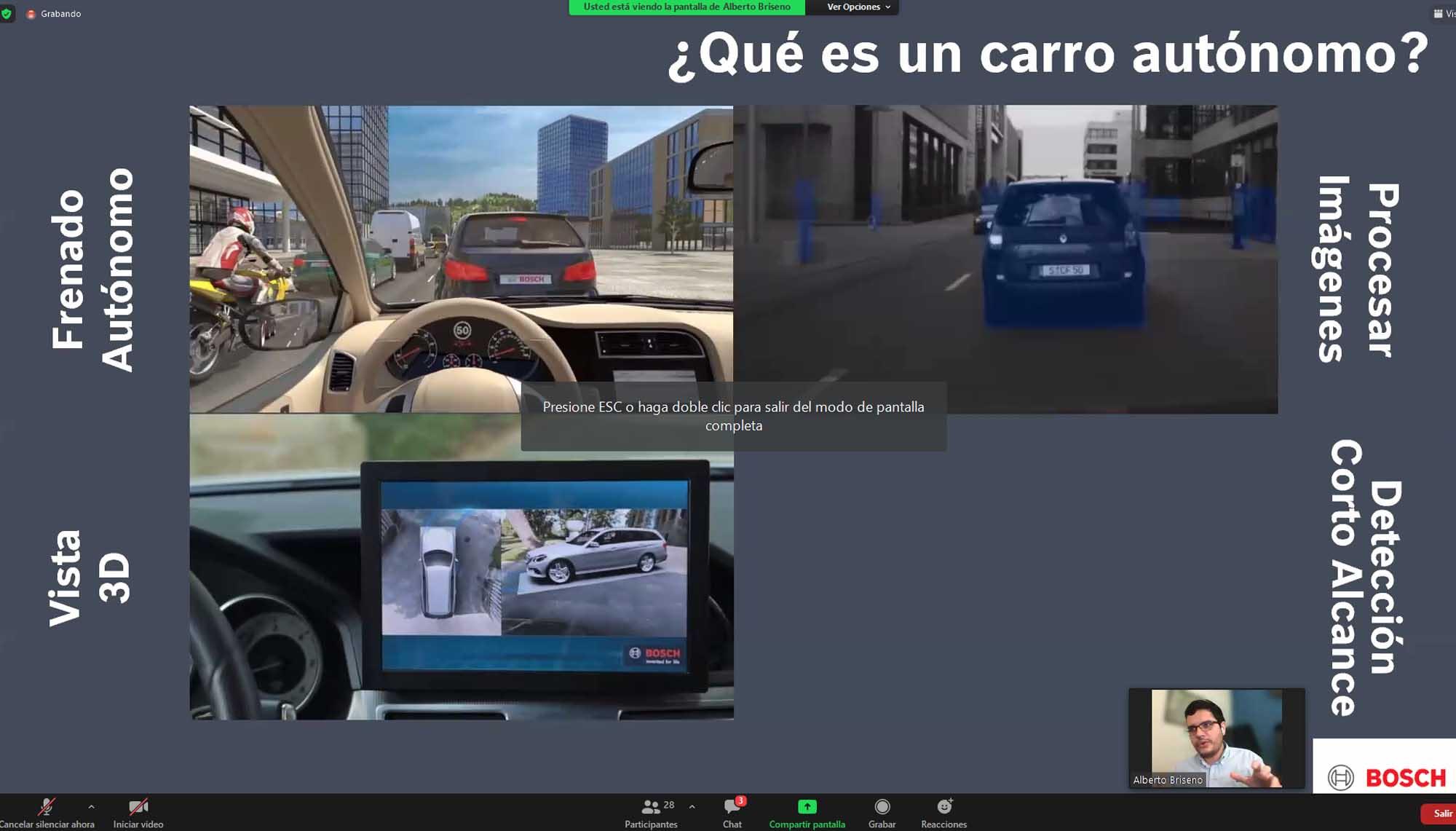 Los autos autónomos son ya una realidad: Ing. Alberto Briseño