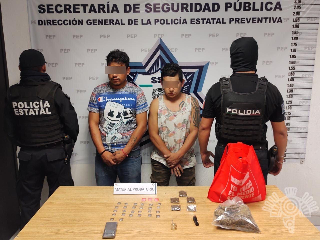 Al sur de la capital, SSP detiene a dos presuntos narcovendedores