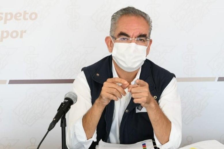 Internados 424 pacientes de Covid en Puebla, alertó el secretario Martínez García