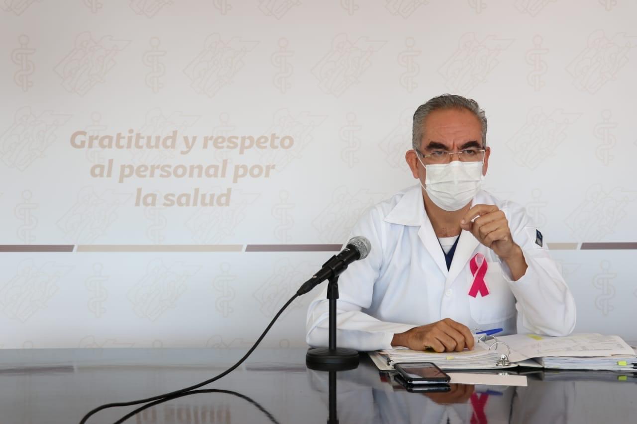 Video desde Puebla: Van 15 mil 676 muertes y 120 mil 861 contagios de Covid en la entidad, alertó el titular de Salud