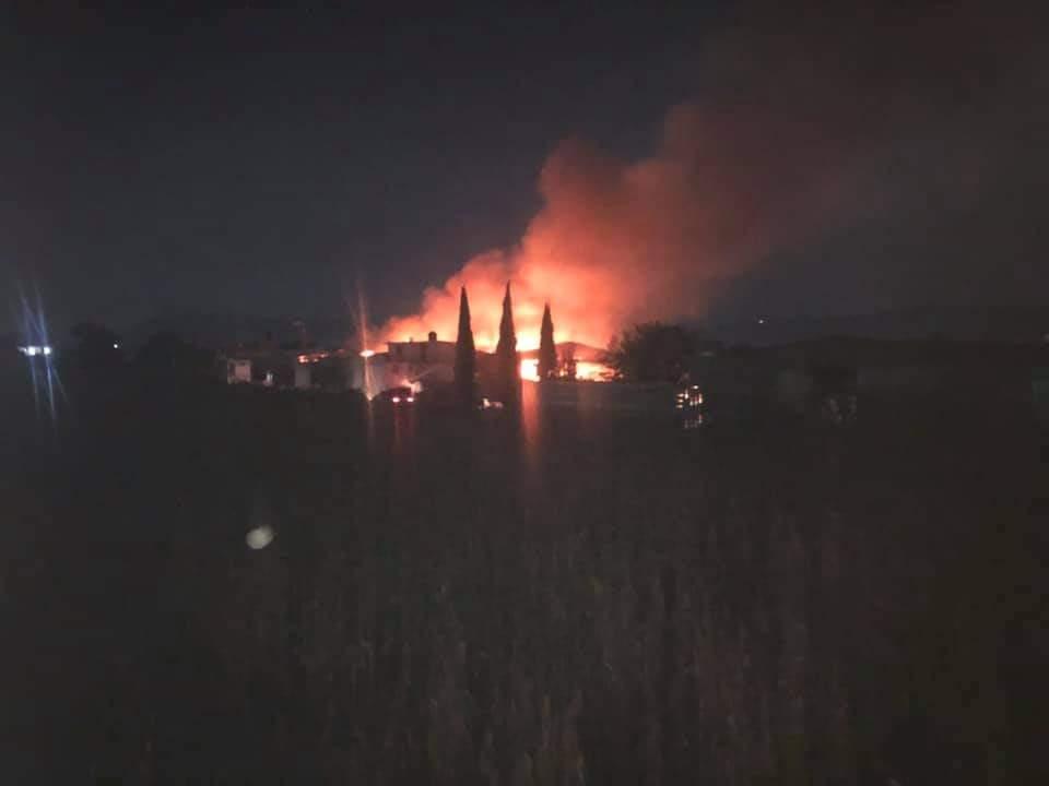 Arde bodega de borra en Chachapa