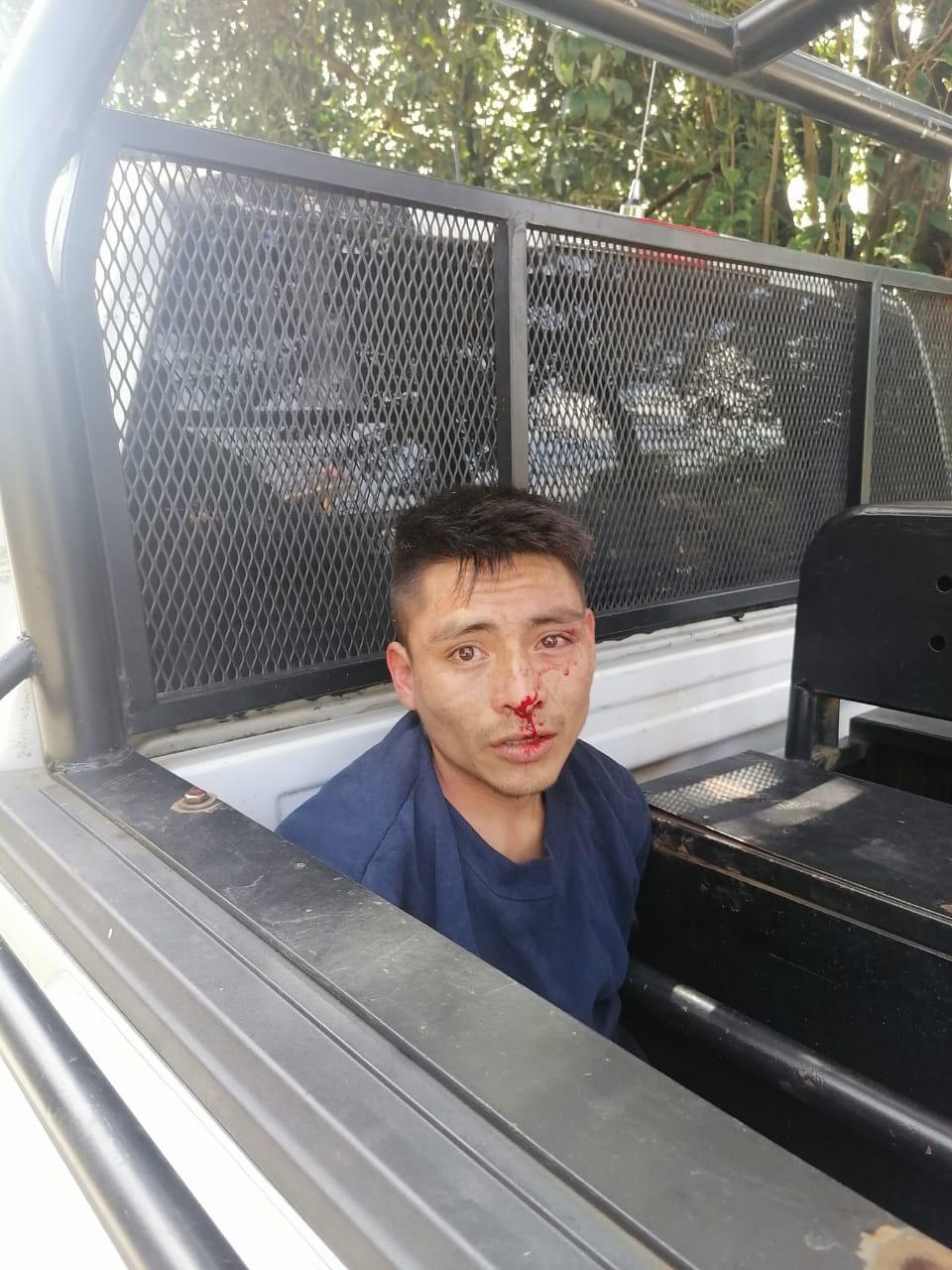 Vecinos de Huachinango detuvieron este lunes a un delincuente