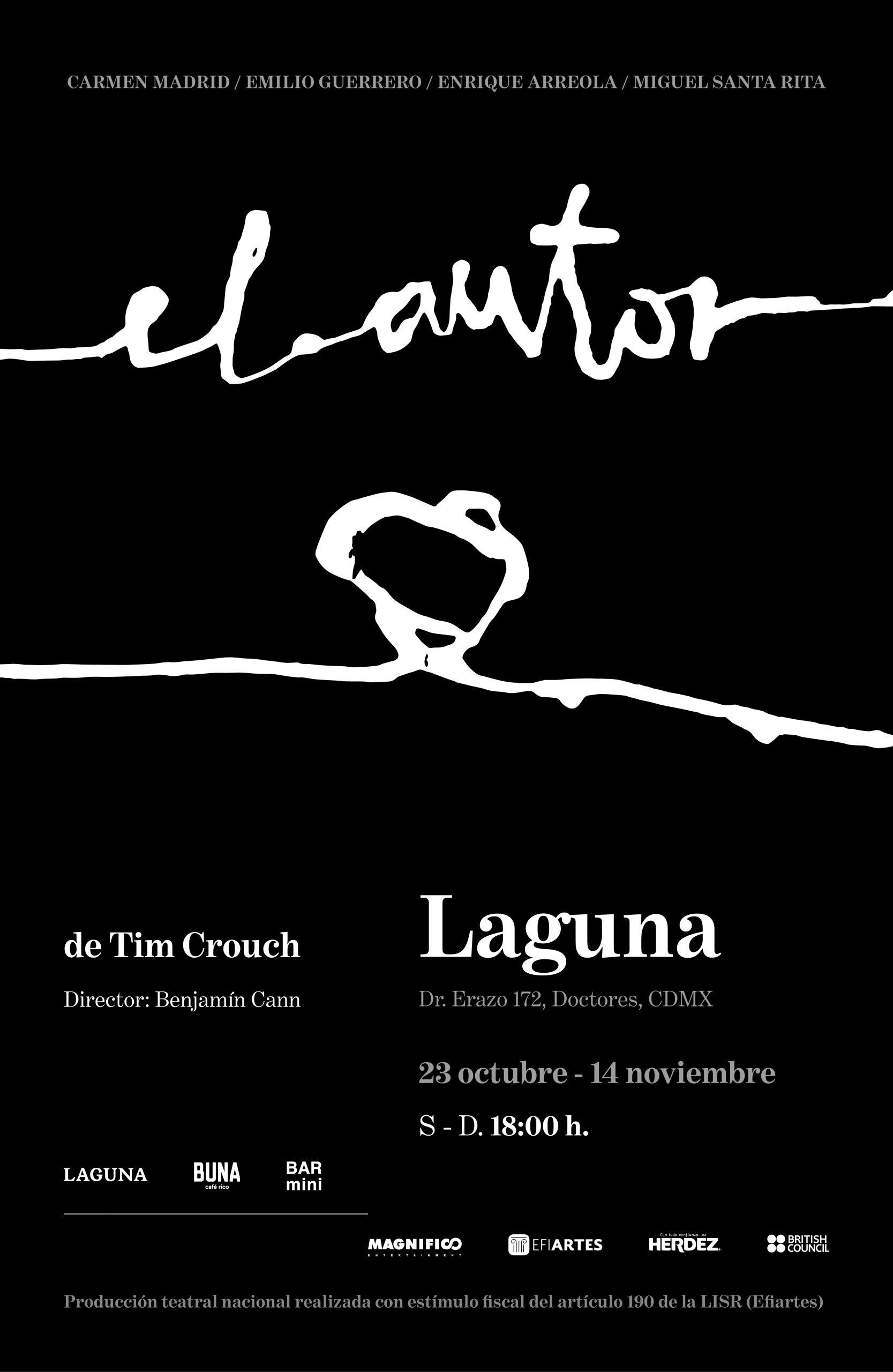 """""""El Autor"""", obra teatral dirigida por Benjamín Cann, se estrena este sábado 23 de octubre"""