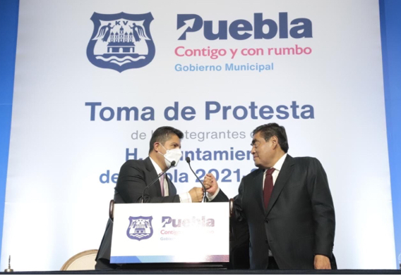 Video desde Puebla: Gobernador Barbosa calificó a Eduardo Rivera como un hombre decente y experimentado