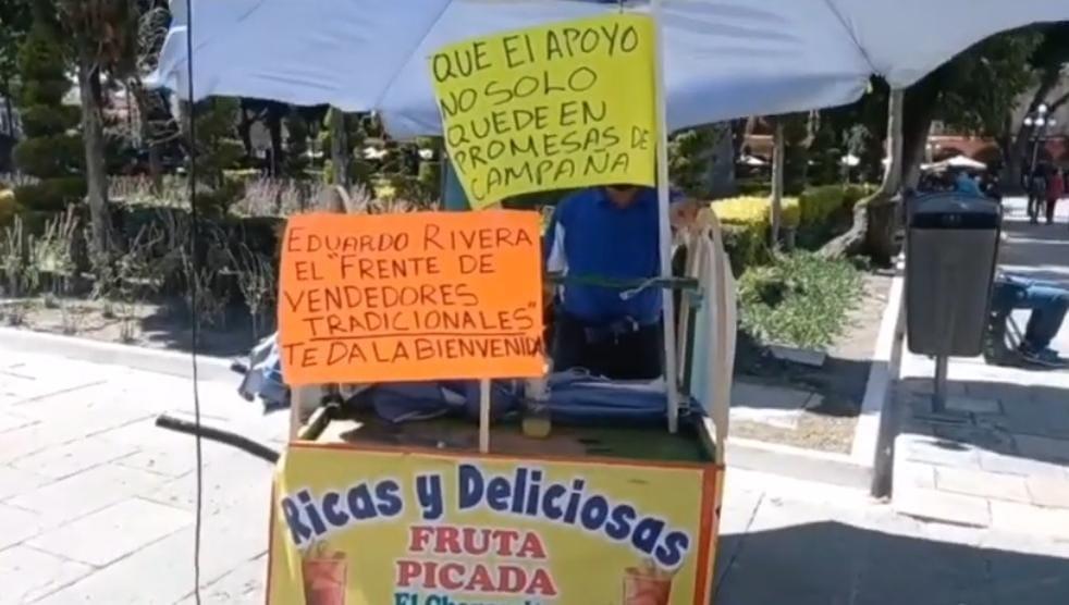 Video desde Puebla: Y en el primer día del nuevo ayuntamiento…que se instalan ambulantes en el zócalo