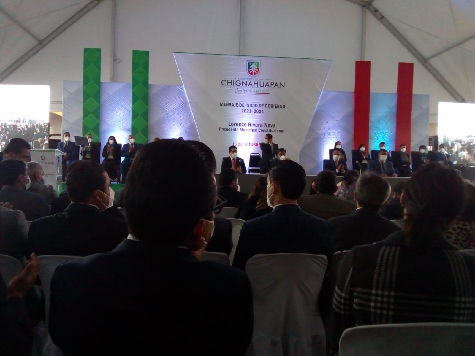Video desde Puebla: Seguridad y combate a la pobreza, prioridades en Chignahuapan, reiteró Lorenzo Rivera Nava