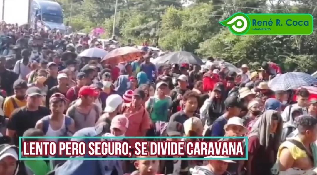 Video Desde Tapachula: Migrantes a Paso Lento en Caravana ante Mujeres Embarazadas y Niños; Se Separa un Grupo para Avance Mayor.