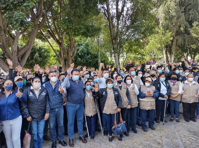Video desde Puebla: Eduardo Rivera pone en marcha programa de mantenimiento de camellones