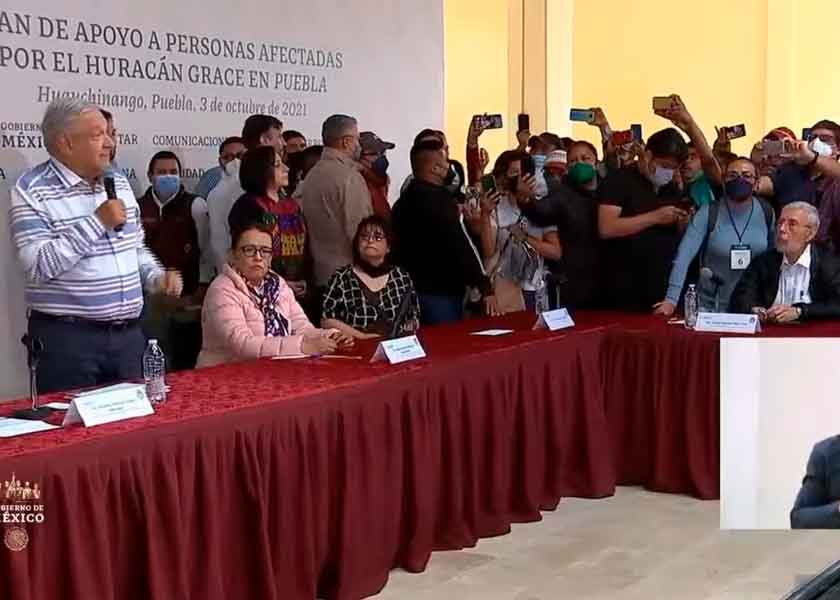Antorcha Campesina se deslinda de las manifestaciones en Huauchinango durante visita de AMLO